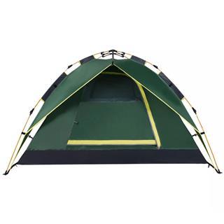 駱駝CAMEL 戶外液壓自動帳篷 野營防雨遮陽四季雙層帳篷(顏色隨機)