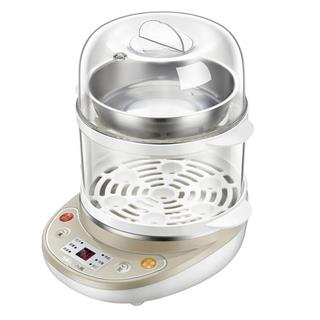小熊(Bear)煮蛋器 家用早餐机蒸蛋器自动断电微电脑预约定时双层可煮14个蛋