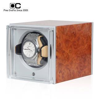 開合搖表器 轉表器 1表位機械手表上鏈盒 晃表器 4G-AJ 花樟