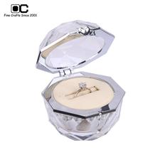 OC开合结婚戒指盒  玻璃-单戒CD-011