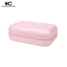 OC开合迷你可爱首饰盒 生日礼物 随身手拿拉链式小饰品盒 粉色TJ-032