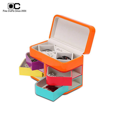 OC开合欧式3层*2首饰珠宝盒 创意彩色木质饰品收纳盒 小SD-122