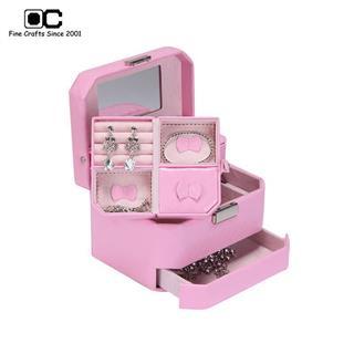 OC开合首饰盒专柜同款欧式公主多层珠宝盒  粉色YZM-011