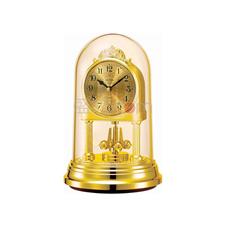 丽声 RHYTHM 创意装饰座钟静音钟摆锤台钟 17cm精致旋转 4SG888WR18