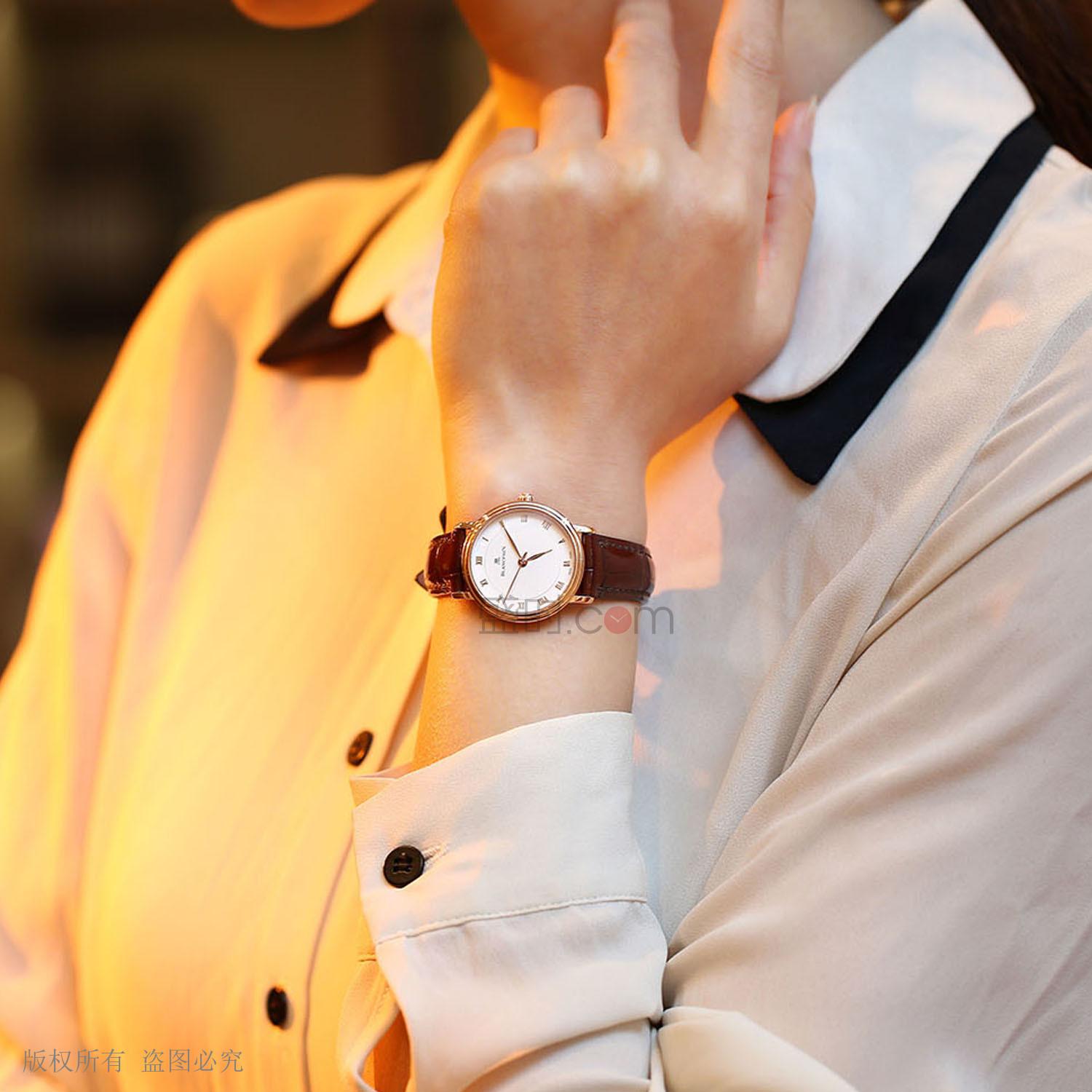 宝珀 Blancpain VILLERET系列 6102-3642-55A 机械 女款