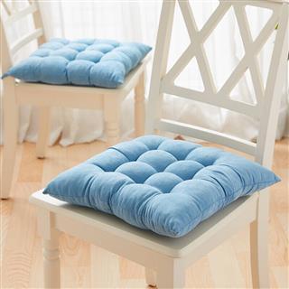 坐垫家居 时尚加厚麂皮绒坐垫沙发垫子 单只装(颜色随机)