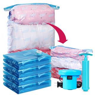 太力真空压缩袋旅行收纳袋 立体式整理袋16件套