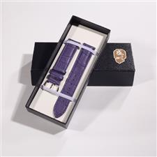 CENSH紫色牛皮竹节纹表带19*18mm