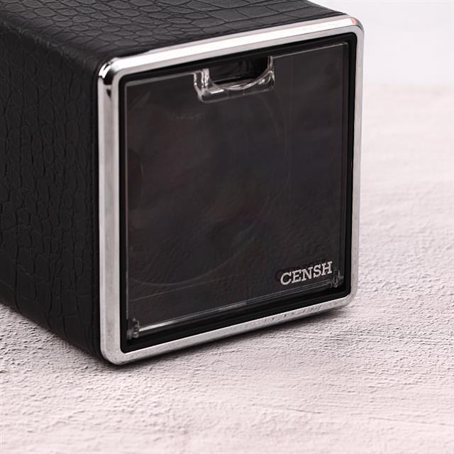 CENSH盛時定制 單頭搖表器 黑色鱷魚皮紋