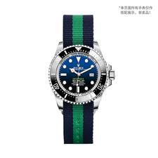 CENSH蓝绿蓝经典条纹尼龙帆布表带20*20mm