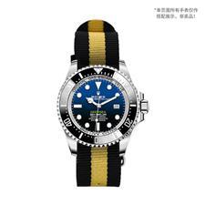 CENSH黑黄黑经典条纹尼龙帆布表带22*22mm