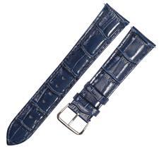 CENSH 墨蓝色牛皮竹节纹表带20*18mm