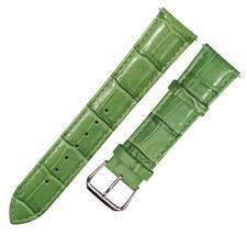 CENSH亮绿色牛皮竹节纹表带19*18mm