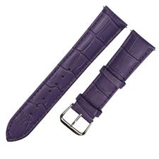 CENSH紫色牛皮竹节纹表带15*14mm