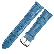 CENSH天蓝色牛皮竹节纹表带12*10mm