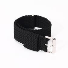 CENSH纯黑色涤纶帆布表带22*22mm