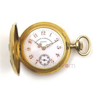 江诗丹顿(Vacheron Constantin ) 18K黄金钻石镶嵌花卉浮雕女士全猎怀表