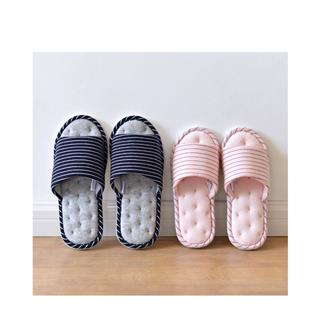 日式春秋棉布软底女式拖鞋粉色(37/38码)