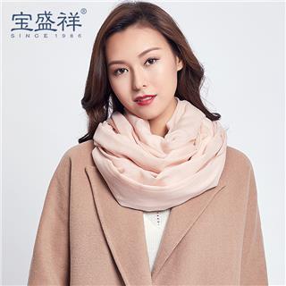 女式羊毛围巾(杏色w9202 )