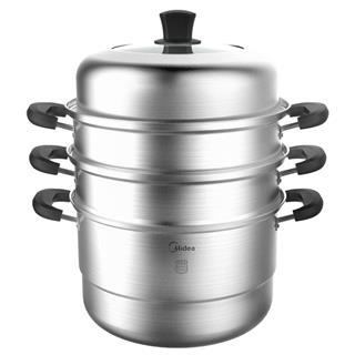 美的(Midea)蒸锅 304不锈钢 三层大容量 一锅多能