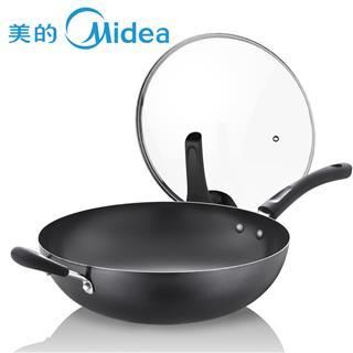 美的(Midea)炒锅 34cm精铁锅 爆炒小能手 防刮耐磨 健康无涂层