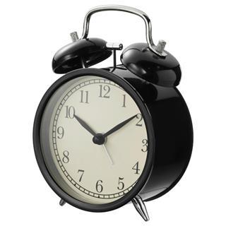DEKAD德卡 鬧鐘 黑色簡約復古床頭靜音時鐘