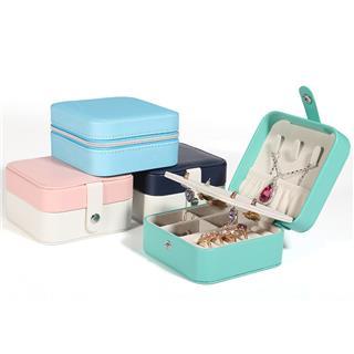 便攜式旅行首飾盒(深藍)