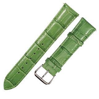 盛時定制亮綠色牛皮竹節紋表帶16*14MM