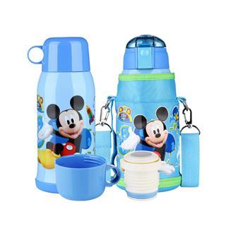 迪士尼(Disney)保温杯550ML儿童不锈钢吸管水壶(米奇蓝色)