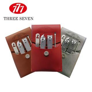 777指甲刀套裝 指甲剪鉗修容組合4件套裝(顏色隨機)