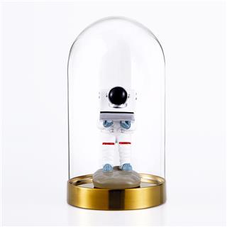宇航员表台航天员手表座装饰摆件太空人表托支架(带玻璃罩底座款)