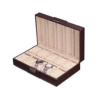 盛时定制十表位手表盒 十位手表收纳盒
