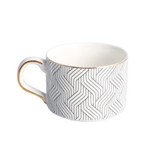 白色簡約咖啡杯套裝下午茶具(1壺+2杯)