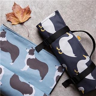INS风 户外野餐垫防潮垫儿童印花出游便携式聚餐垫(黑色鸭子)