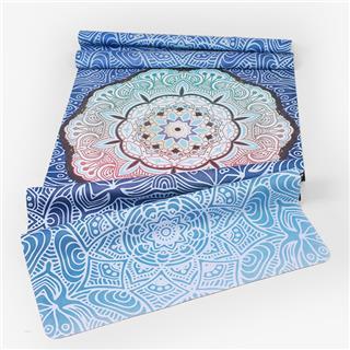天然橡膠麂皮絨瑜伽墊印花超薄折疊防滑鋪巾(海洋之星)