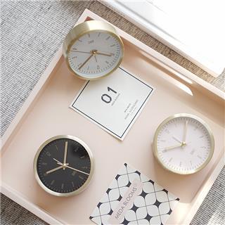 简约现代 创意儿童闹钟时尚 学生床头 多功能装饰时钟(白色)