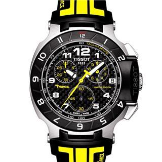 天梭 T048.417.27.202.01 石英 男款 世界時 計時碼 小秒針