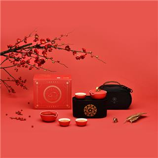 故宫限量便携式茶壶套装泊喜(Pertouch)富贵吉象茶盒版