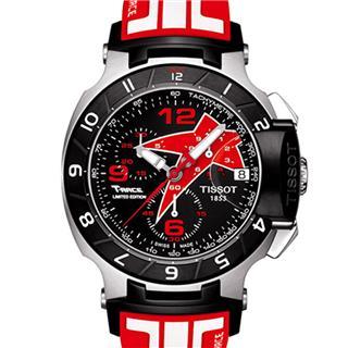 天梭 T048.417.27.057.08 石英 男款 世界時 計時碼 小秒針