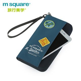 M square旅行護照包證件收納包袋多功能旅游機票夾卡包