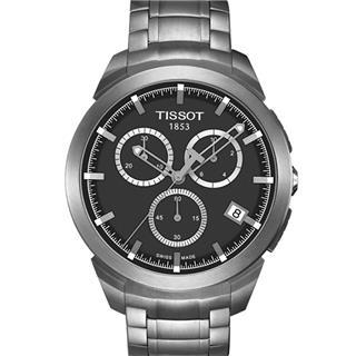 天梭 T069.417.44.061.00 石英 男款 計時碼 小秒針
