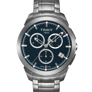 天梭 T069.417.44.041.00 石英 男款 計時碼 小秒針