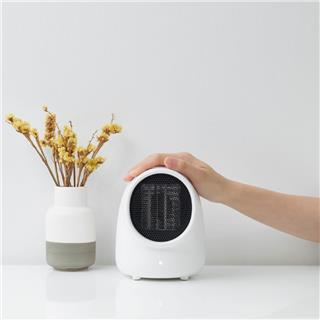 soting呆呆個人桌面暖風機迷你臺式家用學生宿舍辦公室取暖器(白色)