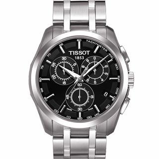天梭 T035.617.11.051.00 石英 男款 兩地時 計時碼 小秒針