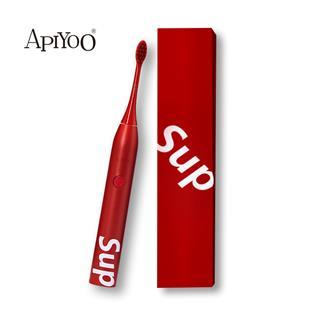 APIYOO艾優電動牙刷SUP限量款女男情侶款成人聲波電動牙刷軟毛款(紅色)