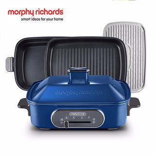 摩飛電器(MORPHY RICHARDS)多功能鍋料理鍋 標配(帶深鍋盤+牛扒盤+蒸盤)