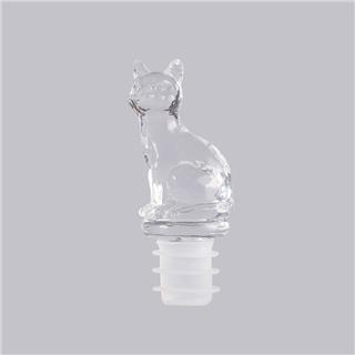 出口日本FRANC红酒葡萄酒可爱动物家用瓶塞(透明小猫)