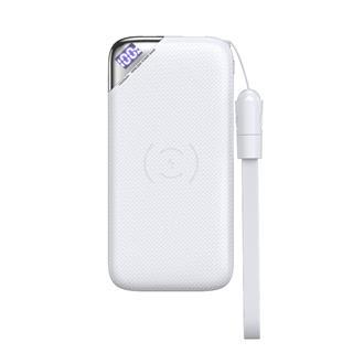 Joyroom充电宝 PD快充移动电源充电宝带无线充功能10000毫安(白色)