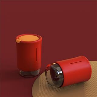 原初格物翻转杯茶水分离玻璃杯居家办公出游便携杯个人茶杯时尚(红色)