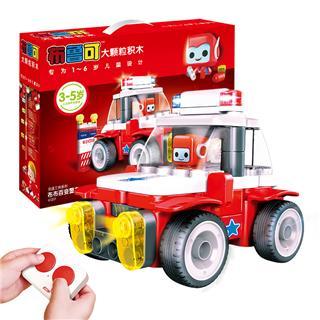 布鲁可积木拼装遥控警车